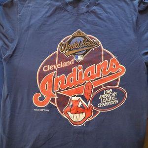 1995 Cleveland Indians World Series T-shirt